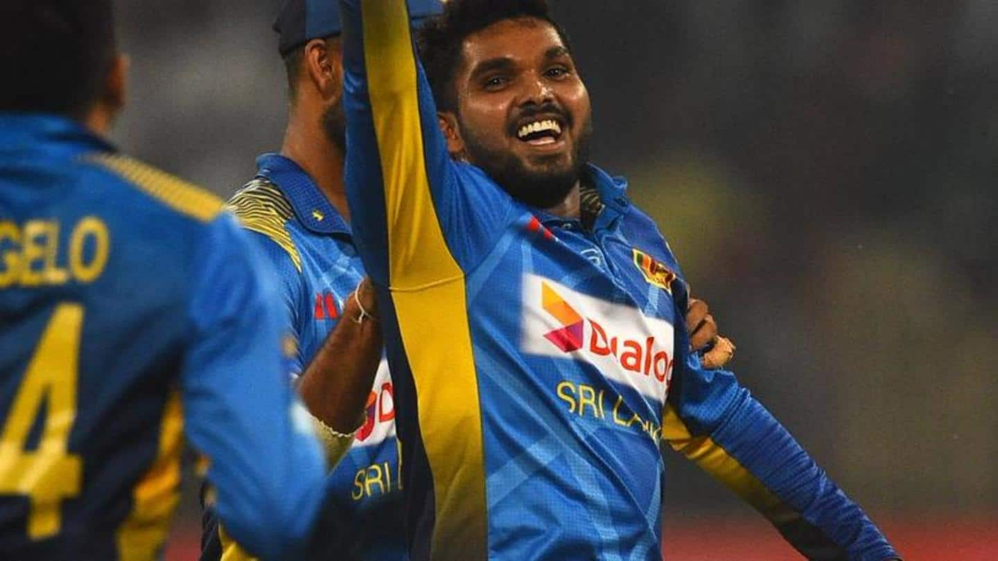 All-rounder Hasaranga does the job for Sri Lanka