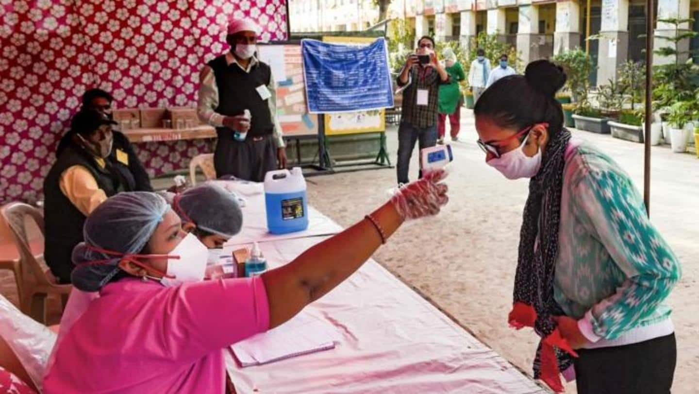 COVID-19 preventive measures were in place at polling stations
