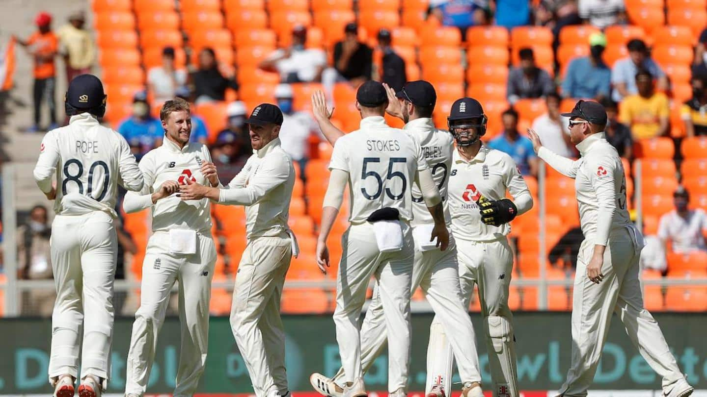 India vs England, D/N Test: Hosts bowled out for 145