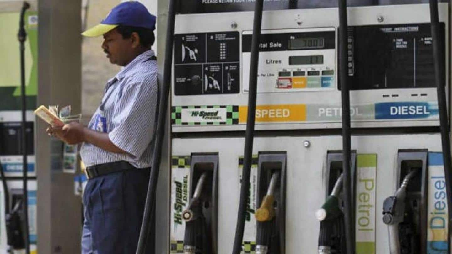 Increase follows a spurt in oil prices in international market