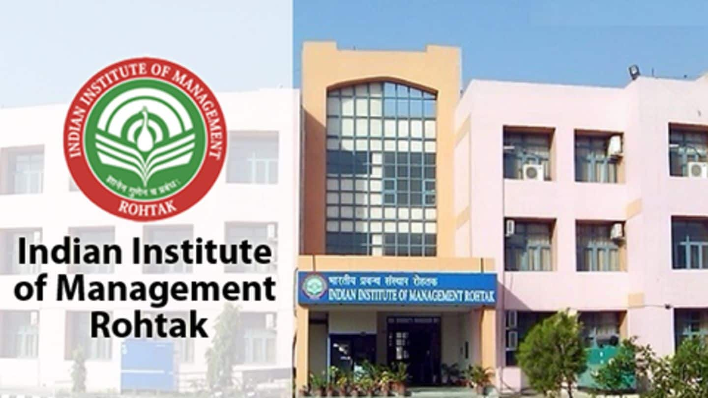 IIM-Rohtak sees 100% placements; average package Rs. 11.85 lakh p.a.