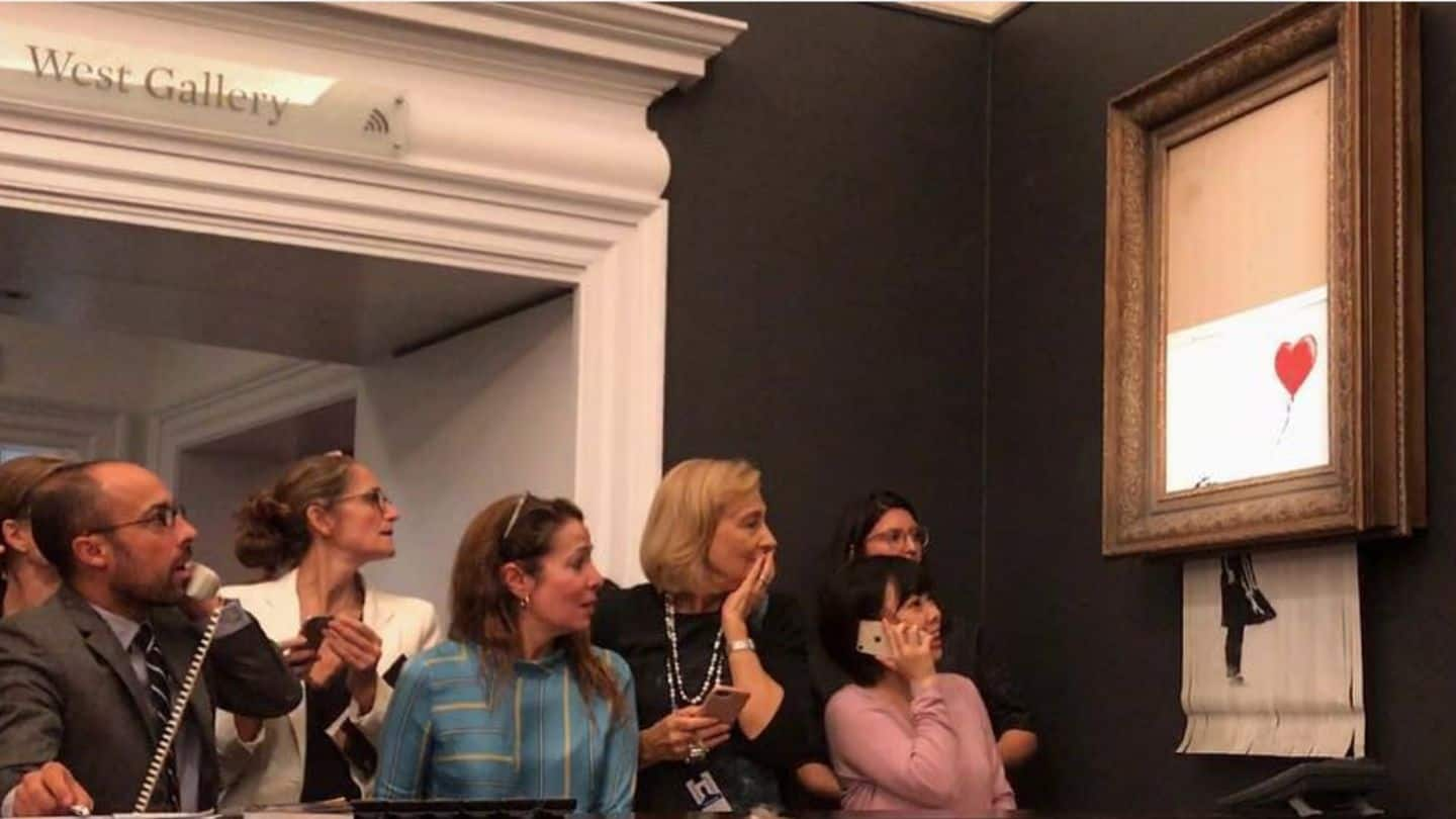 Artwork sold for $1.4mn self-destructs at auction leaving audience stunned